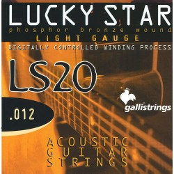 MUTA PER CHITARRA GALLI STRINGS LS 20 PHOSPHOR BRONZE WOUND .012 – .053 Light