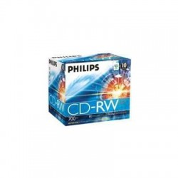 PHILIPS CD RISCRIVIBILE RW80D04/100 CD-RW DATA (80MIN) PACCO DA 10