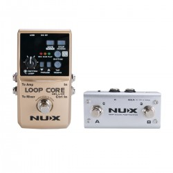 NUX LOOP STATION  CORE DELUXE BUNDLE LOOP CORE DELUXE + NMP2 DUAL FOOTSWITCH