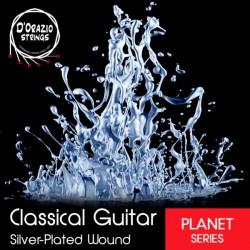 D'ORAZIO STRINGS – CLASSICAL GUITAR SILVERPLATED NORMAL TENSION