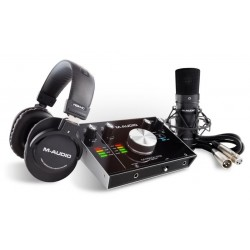 M-AUDIO M-TRACK 2X2 VOCAL STUDIO PRO KIT HOME RECORDING CON MICROFONO,SCHEDA AUDIO E CUFFIE
