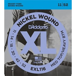D'ADDARIO EXL116 MEDIUM TOP /HEAVY BUTTON 11-52