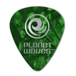 D'ADDARIO 1CGP4 PLANET WAVES , PLETTRI IN CELLULOIDE 0,70 MM VERDE 6PZ