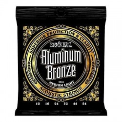 ERNIE BALL 2566 ALUMINIUM BRONZE MEDIUM LIGHT 12/54