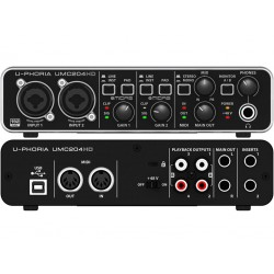 BEHRINGER UMC204HD INTERFACCIA AUDIO 2x4 MIDI/USB 24 BIT CON PREAMP MIDAS