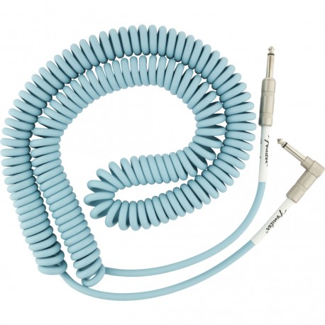 FENDER ORIGINAL SERIES COIL CABLE STRAIGHTS -ANGLE 30 Daphne Blue