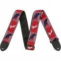 """FENDER WEIGHLESS 2"""" MONO STRAP S RED/WHITE/BLUE"""