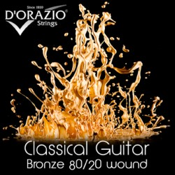 MUTA PER CHITARRA BRONZE 80/20 CRYSTAL NYLON NORMAL TENSION