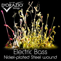 MUTA PER BASSO D'ORAZIO NICKEL PLATED STEEL WOUND 45/100